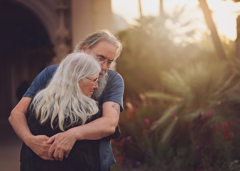 Engagement & Couples Photography - couple hugging at sunset - Temecula California Engagement & Couples Photographer