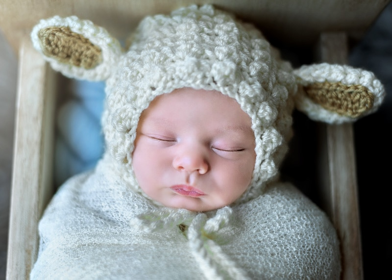 Lifestyle Photography - baby in lamb outfit - Temecula California Lifestyle Photographer