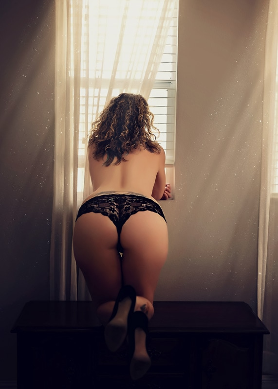 Boudoir Photography - woman bent over from behind - Temecula California Boudoir Photographer
