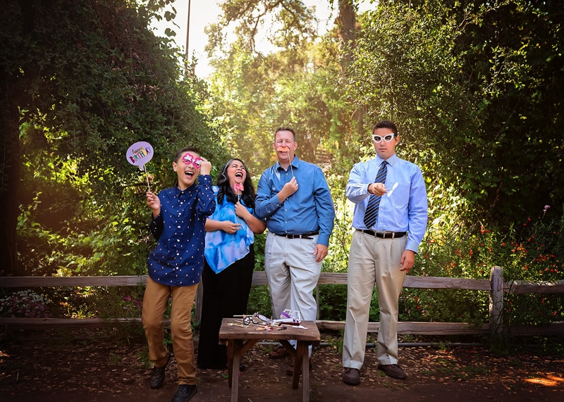 Family Photography - family having fun with props - Temecula California Family Photographer