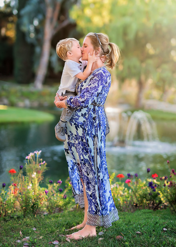 Maternity Photography - pregnant mamma holding up son - Temecula California Maternity Photographer