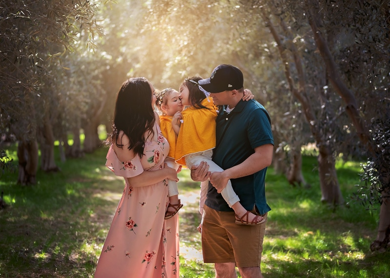 Family Photography - sisters in yellow at the vineyard - Temecula California Family Photographer