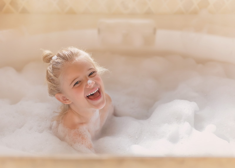 Lifestyle Photography - girl in bubble bath - Temecula California Lifestyle Photographer