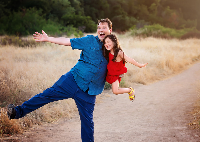 Family Photography - father and daughter being silly - Temecula California Family Photographer