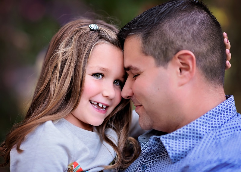 Family Photography - close up of father and daughter - Temecula California Family Photographer