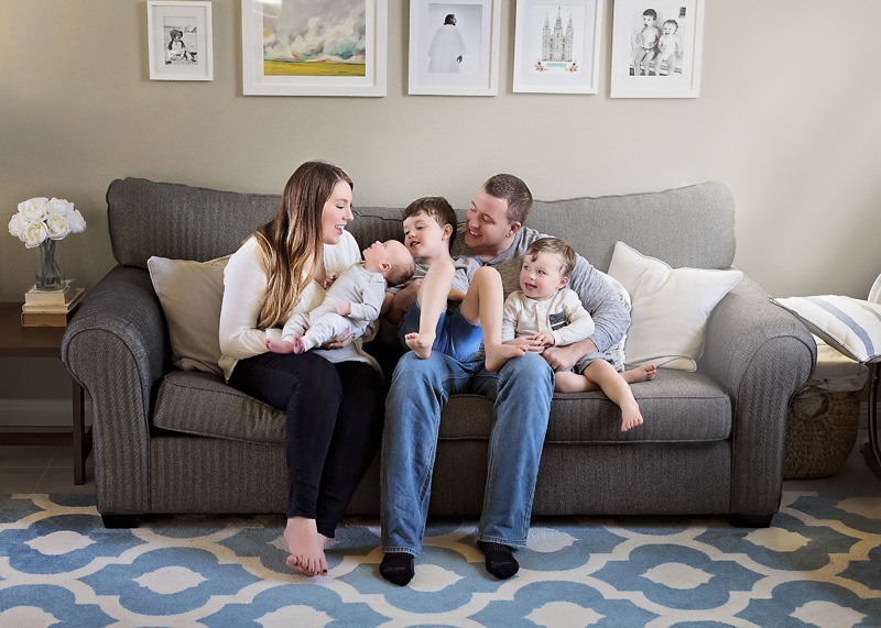 Family Lifestyle Photography - Family on Couch