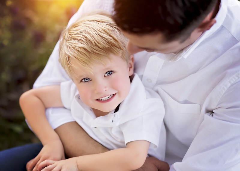 Family Photography - father and son in white - Temecula California Family Photographer
